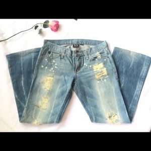 Armani Exchange | distressed Jeans 4 short. NWOT